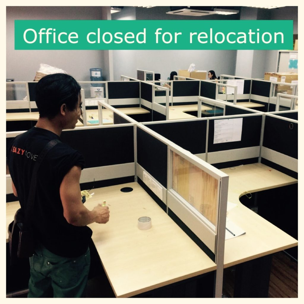 Office was closed for relocation